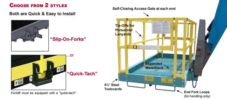 Industrial Work Platform Forklift Attachment