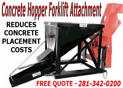 Cheap Forklift Concrete Hoppers For Sale
