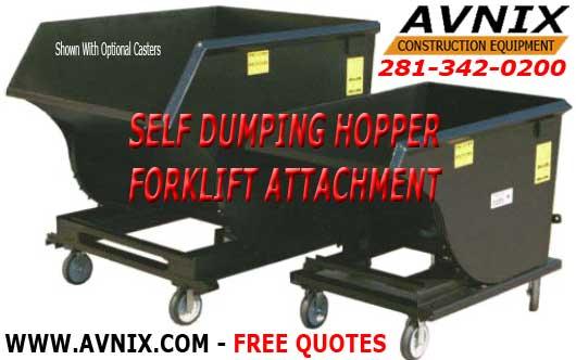Self Dumping Hoppers Forklift Attachment