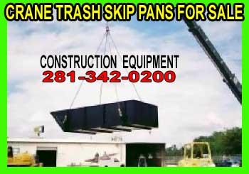 Crane Dumpster Trash Skip Pans For Sale