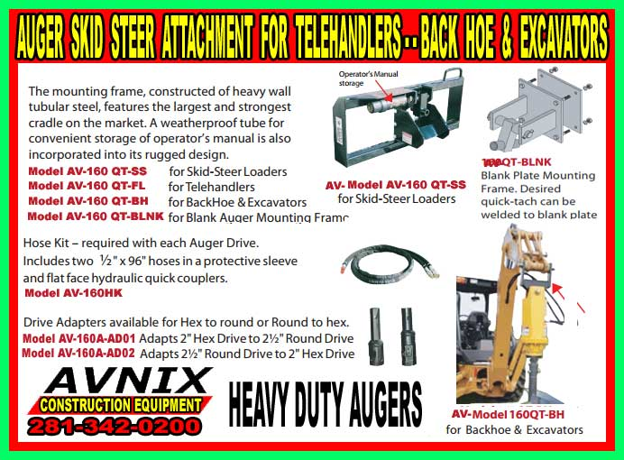 Auger Skid Steer Attachment For Sale Cheap At Discount Price