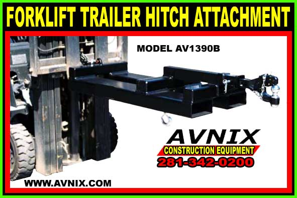 Forklift Trailer Hitch Attachment For Sale