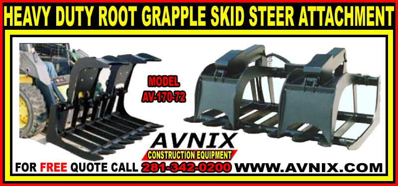 Cheap Heavy Duty Root Grapple Skid Steer Loader Attachments At Wholesale Prices