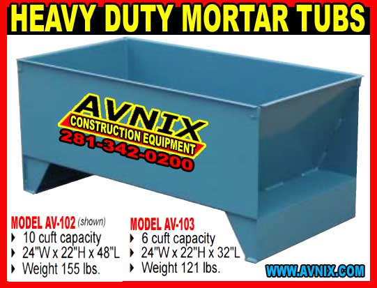 Discount Mortar Tubs For Sale Cheap