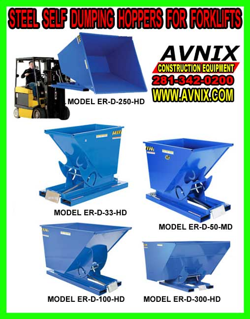 Discount Self Dumping Hoppers For Forklifts For Sale Cheap
