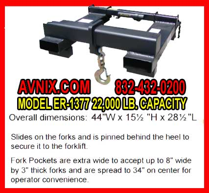 Forklift Attachment For Lifting For Sale