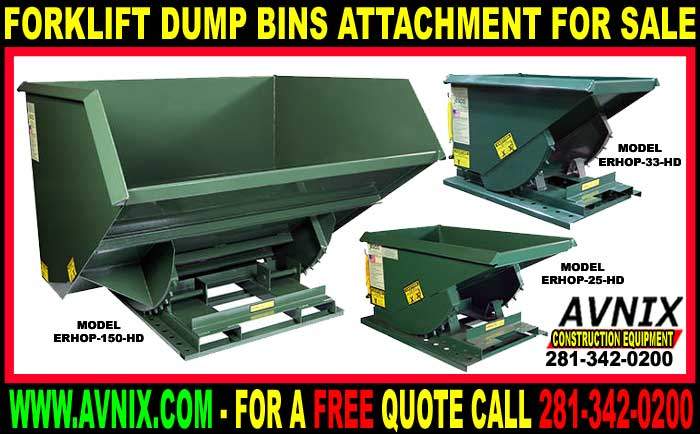 Discount Forklift Dump Bins For Sale Cheap Wholesale Prices