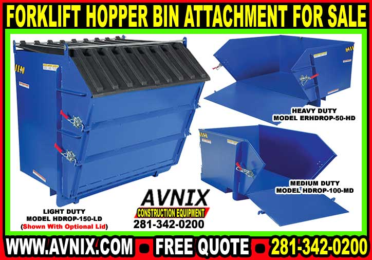 Forklift Hopper Self Dumping Bin For Sale Cheap At Discount Wholesale Prices