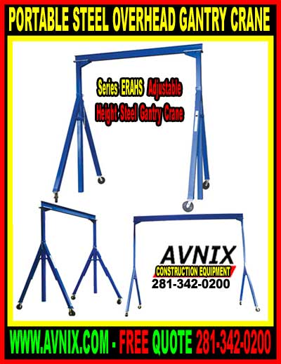 Portable Overhead Gantry Crane For Sale Cheap At Discount Pricing