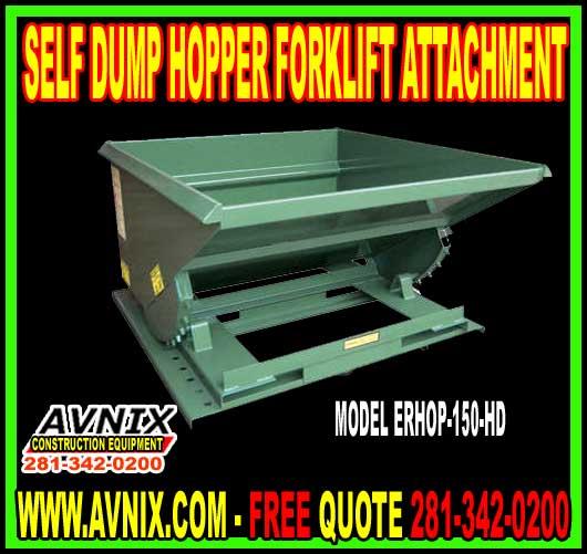Self Dump Hopper Forklift Attachment For Sale Cheap