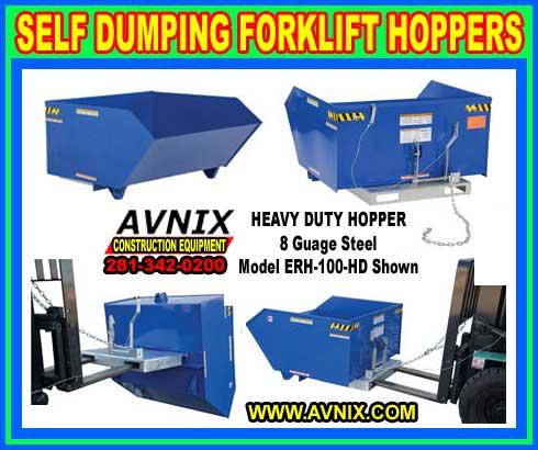 Self Dumping Forklift Hoppers For Sale