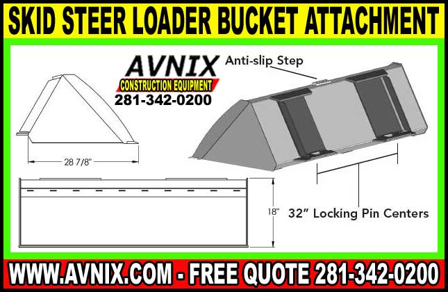 Discount Skid Steer Loader Bucket Attachment For Sale Cheap Prices