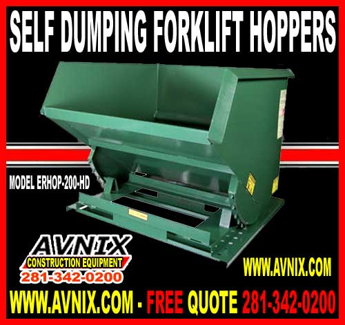 Discount Steel Self Dumping Forklift Hopper Attachment For Sale Chea