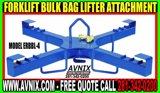 Bulk Bag Lifter Fork Truck Attachment On Sale Now