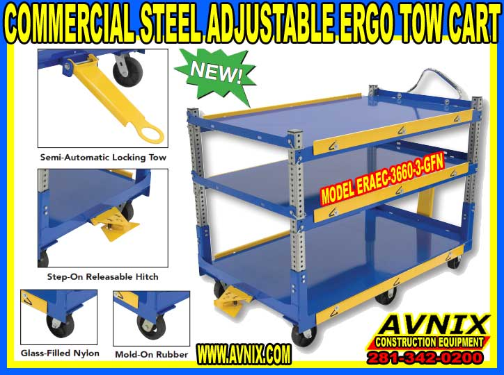 Discount Adjustable Ergonomic Steel Tow Cart For Sale At Cheap Wholesale Prices