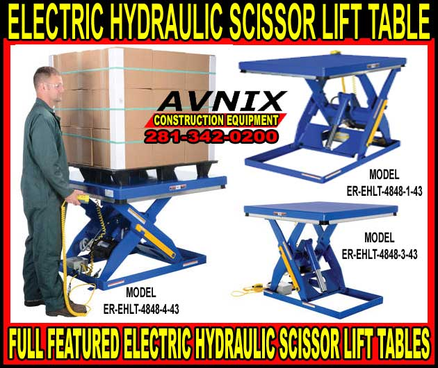 Electric Hydraulic Scissor Lift Tables For Sale At Wholesale Discount Prices