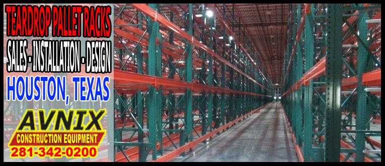 Discount Teardrop Pallet Racking Sales Installation Design In Houston, TX.