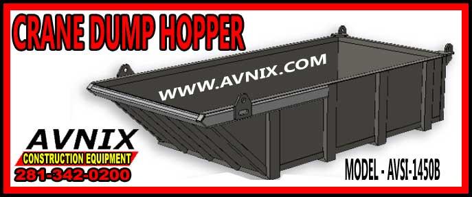 Discount Crane Dump Hopper For Sale Cheap Manufacturer Direct Pricing AVSI 1450B