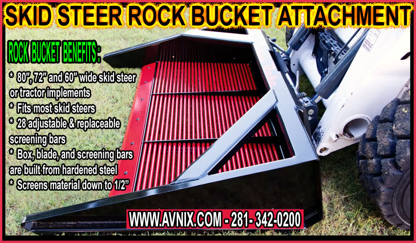Discount Heavy Duty Skid Steer Rock Bucket Attachment For Sale - Cheap Manufacturer Direct Pricing