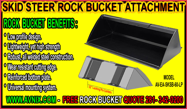 Discount Skid Steer Rock Bucket Attachments For Sale - Cheap Manufacturer Direct Prices