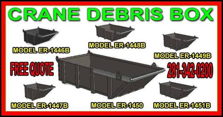 Commercial Heavy Duty Crane Debris Box Attachment For Sale Factory Direct Guarantees Lowest Price