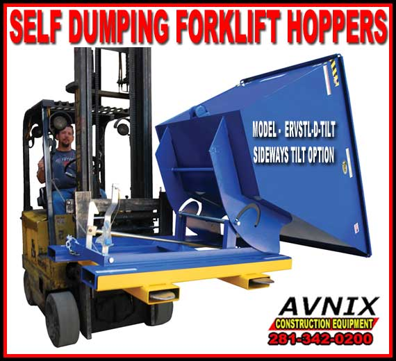 Commerciaol Side Self Dumping Forklift Hoppers For Sale Manufacturer Direct Guaranteed Lowest Price