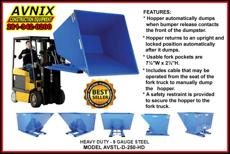 Discount Commercial Self Dumping Hopper Fork Truck Attachments For Sale Manufacturer Direct Guarantees Lowest Price